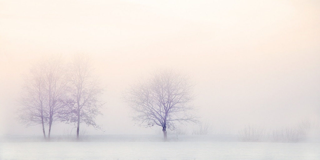 fűtés klímával téli táj