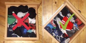 Konmari zokni hajtogatás
